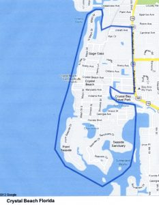 Crystal Beach Florida map